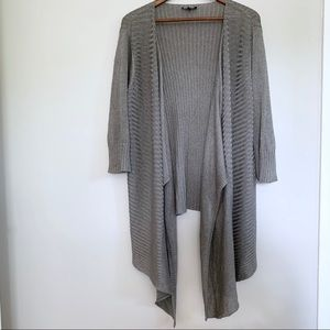 Eileen Fisher Linen Silk Blend Open Knit Cardigan